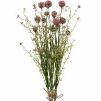 Künstliche Craspedia Violett Trommelstöckchen Kunstblumen 3St