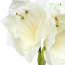 Kunstblume Amaryllis Weiß Ritterstern Weihnachtsdeko H40cm