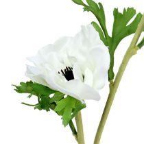 Anemone künstlich Weiß 6St