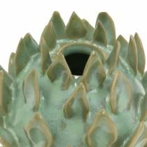 Dekovase Artikschocke Keramik Grün Ø9,5cm H9cm