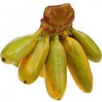 Künstlicher Bananenbund, Deko-Obst, Baby-Bananen L7–9cm