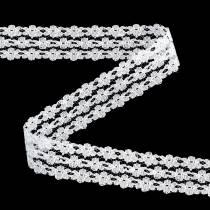 Spitzenband Weiß 20mm 20m