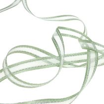Geschenkband Mintgrün mit Silber 15mm 20m