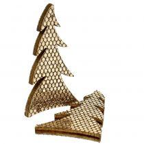 Streudeko Tanne Holz Gold 4cm 48St