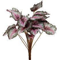 Künstlicher Begonienbusch Grün, Violett 34cm