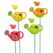 Blumenstecker Gießkanne bunt Gartenstecker Frühlingsdeko 16St