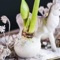 Blumentauchwachs 1kg Weiß