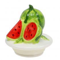 Bonbonniere aus Glas mit Obstdeckel Melone H15,5cm