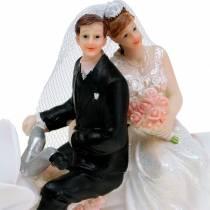 Brautpaarfigur auf Motorrad 12cm