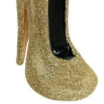 Christbaumschmuck Pumps Gold 10,5cm 2St