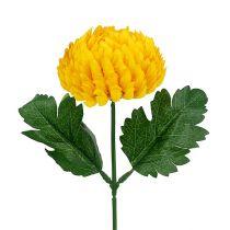 Chrysantheme Gelb künstlich Ø7cm L18cm