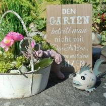 "Holzschild zum Aufhängen ""Garten"" 20cm x 30cm 2St"
