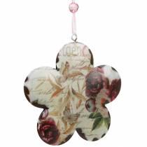Deko-Blume zum Hängen Pfingstrosen nostalgisch Metall Frühlingsdeko 4St