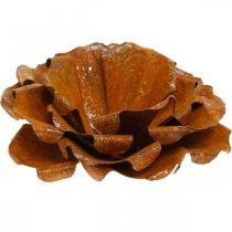 Deko-Rose aus Edelrost, Blume zum Dekorieren, Metall-Blüte Ø20cm
