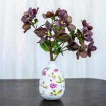 Deko Vase Weiß Geblümt Ø9cm H13,8cm