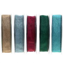 Deko Band  farbig 25mm 20m