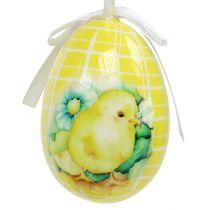 Deko-Eier zum Hängen Gelb-Grün 5-8cm 8St