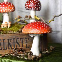 Deko Fliegenpilz Rot, Weiß Tischdeko Herbst Pilz Ø16cm H19cm