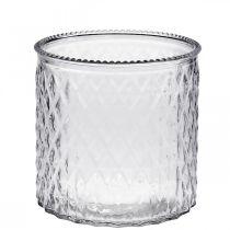 Deko Glas Windlicht Ø12cm H12,5cm