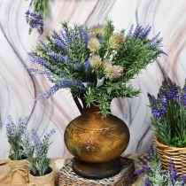 Deko Krug Antik Look Vase Vintage Metall Gartendeko H26cm