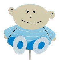 Deko-Stecker Baby Blau 5cm L25cm 20St