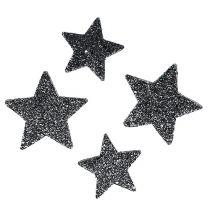Deko-Sterne zum Streuen 4-5cm Schwarz 40St