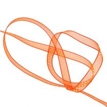 Dekoband Orange mit Punkten 7mm 20m