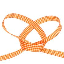 Dekoband kariert in Orange 1,5cm 20m