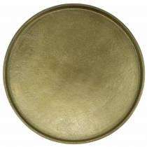 Dekoteller Ton Ø30cm Gold