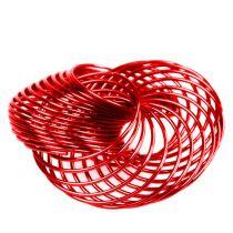 Drahträder Rot Ø4,5cm 6St