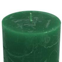 Durchgefärbte Kerzen Dunkelgrün 60x80mm 4St