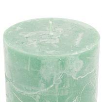 Durchgefärbte Kerzen Hellgrün 60x80mm 4St