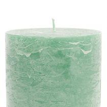 Durchgefärbte Kerzen Hellgrün 85x150mm 2St