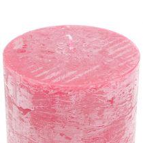 Durchgefärbte Kerzen Rosa 50x100mm 4St