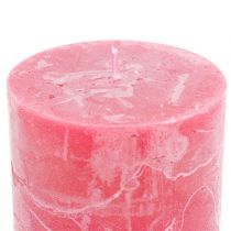 Durchgefärbte Kerzen Rosa 60x80mm 4St