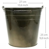 Metallgefäß, Pflanzeimer, Metalldeko Ø27cm H25cm