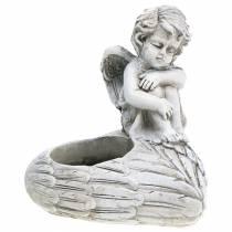 Grabschmuck Teelichthalter Engel 10cm 2St