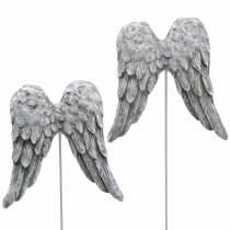 Dekostecker Engelsflügel 10cm 3St