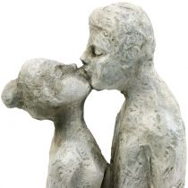 Dekofigur küssendes Paar Steinguss 40cm