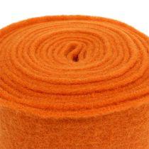 Filzband 15cm x 5m Orange