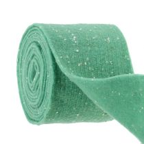 Filzband Mint mit Punkten 15cm 5m
