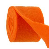 Filzband Orange 15cm 5m