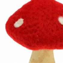 Fliegenpilz Herbstdeko Rot H13,5cm 2St
