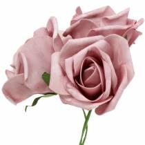 Foam-Rose Ø10cm Altrosa 8St