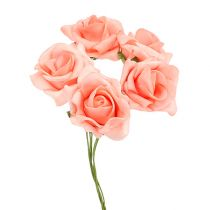 Foam Rose Ø 3,5cm lachs 48St