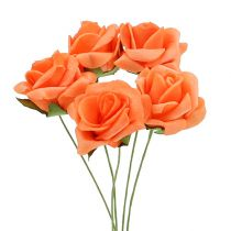 Foam Rose Ø 3,5cm orange 48St
