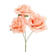 Foam Rose Ø 6cm Lachsrosa 27St