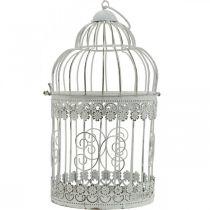 Frühlingsdeko, Vogelkäfig zum Hängen, Metalldeko, Vintage, Hochzeitsdeko 28,5cm