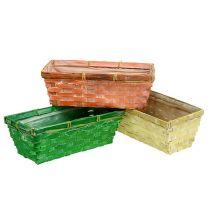Frühlingskorb 25x13x9cm Orange, Gelb, Grün 6St