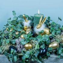 Gänseeier Schwarz Ausgeblasene Eier Osterdeko 12St
